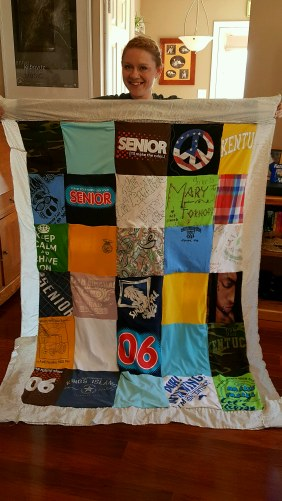 Mary's First Tshirt Quilt - It Could Be Worse