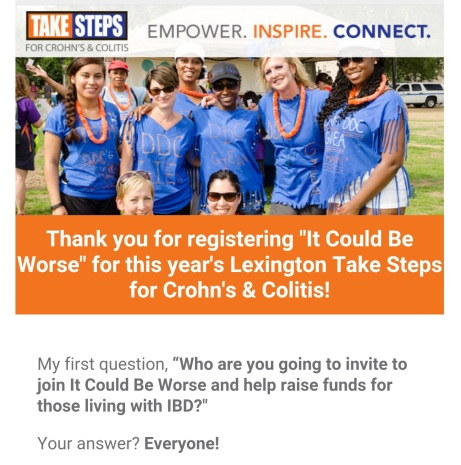 It Could Be Worse - Take Steps Lexington for Crohn's & Colitis