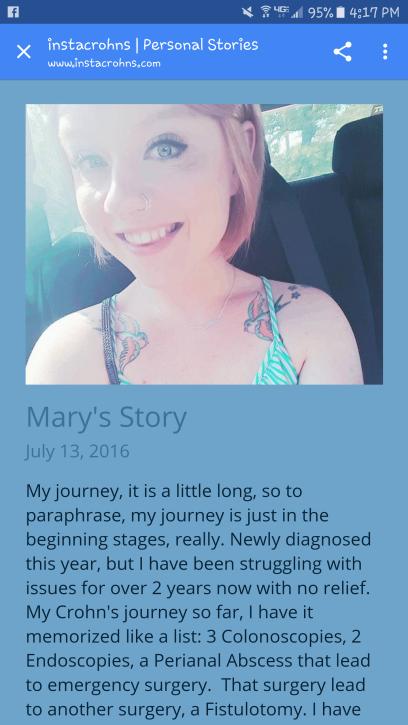Mary's Story InstaCrohns