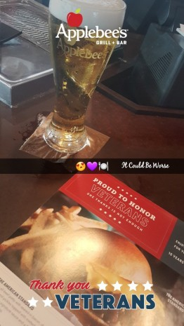 Seeing All of the Doctors - Another Month in My Crohn's Journey - Applebee's Veterans Day