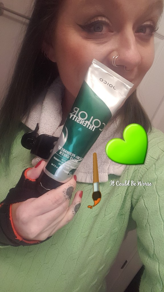 Seeing All of the Doctors - Another Month in My Crohn's Journey - Joico Kelly Green SemiPermanent Hair Color Mary Horsley Mary with the Green Hair