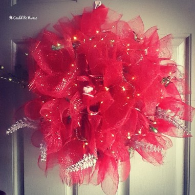 Seeing All of the Doctors - Another Month in My Crohn's Journey - Christmas Wreath Mary Horsley